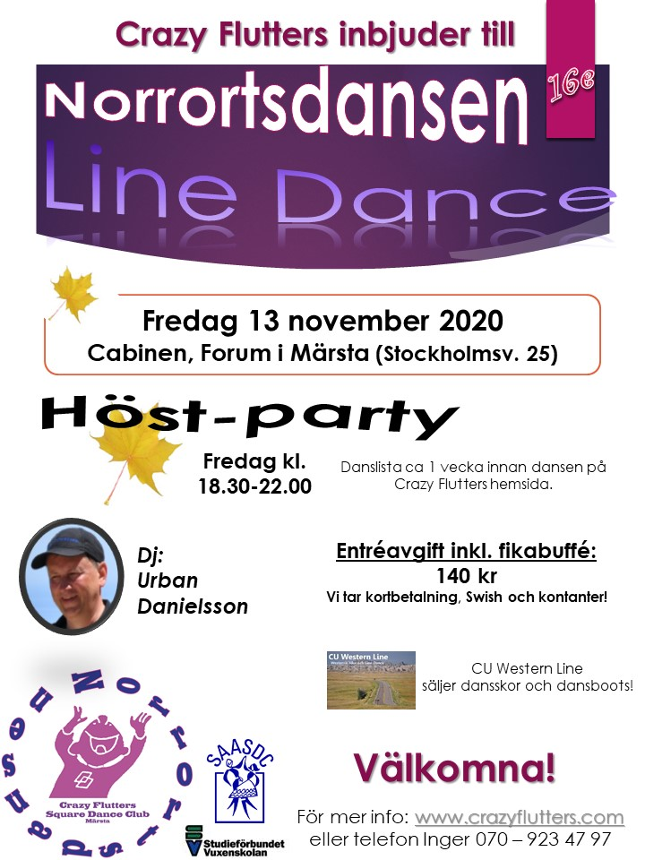 Line Dance - Norrortsdansen Höst-Party